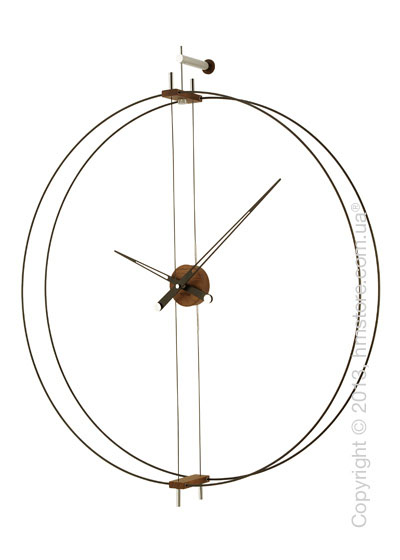 Часы настенные Nomon Barcelona Wall Clock, Walnut
