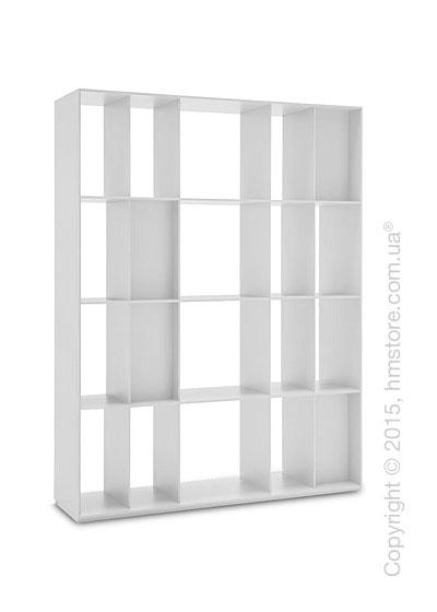 Книжный шкаф Calligaris Division, Free-standing room divider bookcase, Finish matt optic white
