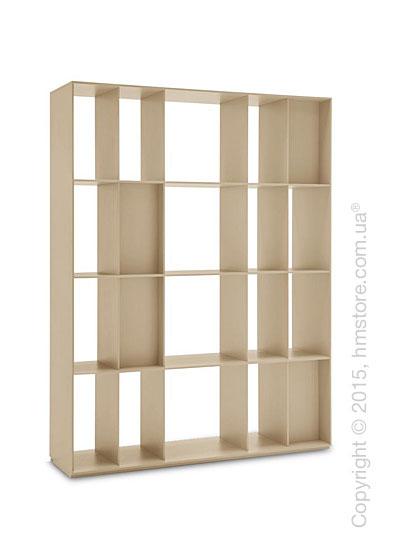 Книжный шкаф Calligaris Division, Free-standing room divider bookcase, Finish matt nougat