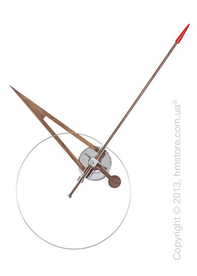 Часы настенные Nomon Cris Wall Clock Walnut, Red