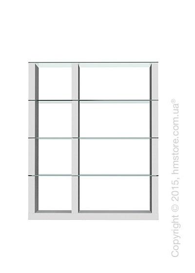 Книжный шкаф Calligaris Lib, Modular bookcase, Finish matt optic white and Glass transparent