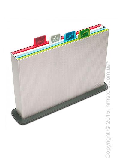 Набор досок на подставке Joseph Joseph Index Chopping Board Set, Silver