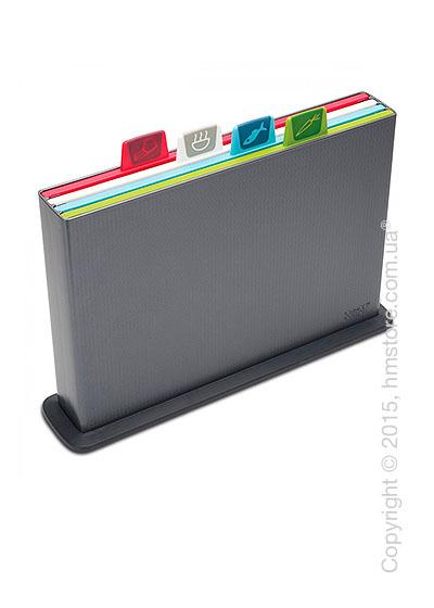 Набор досок на подставке Joseph Joseph Index Chopping Board Set, Graphite