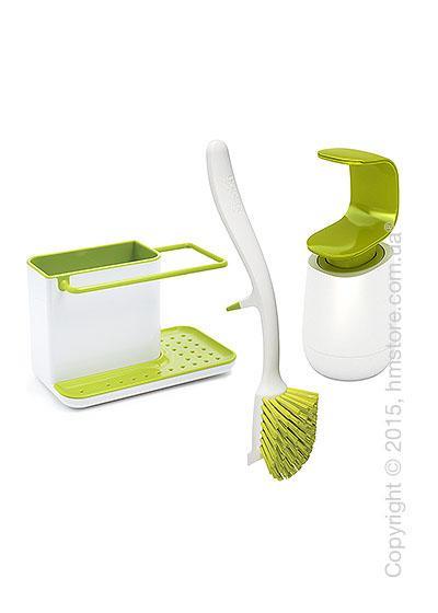 Набор кухонный Joseph Joseph 3-piece Kitchen Sink Set, Green and white