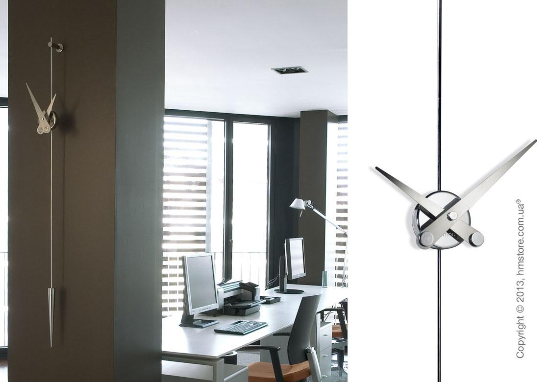 Часы настенные Nomon Punto Y Coma I Steel Wall Clock