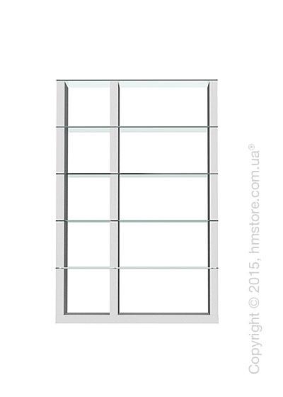 Книжный шкаф Calligaris Lib, Double-sided tall bookcase, Finish matt optic white and Glass transparent