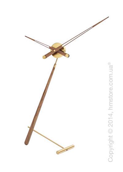 Часы настольные Nomon Puntero Gold N Desktop Clock, Walnut