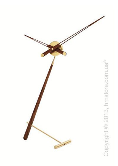 Часы настольные Nomon Puntero Gold N Desktop Clock, Wenge