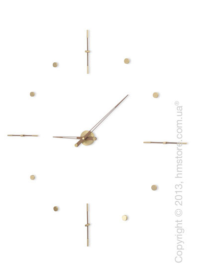 Часы настенные Nomon Mixto Gold Wall Clock