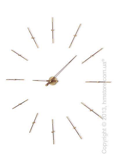 Часы настенные Nomon Merlin Gold 12 N Wall Clock, Walnut