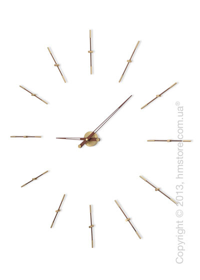 Часы настенные Nomon Merlin 12 Gold N Wall Clock, Wenge