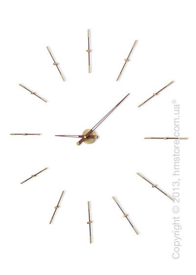 Часы настенные Nomon Merlin 12 Gold N Wall Clock, Wenge