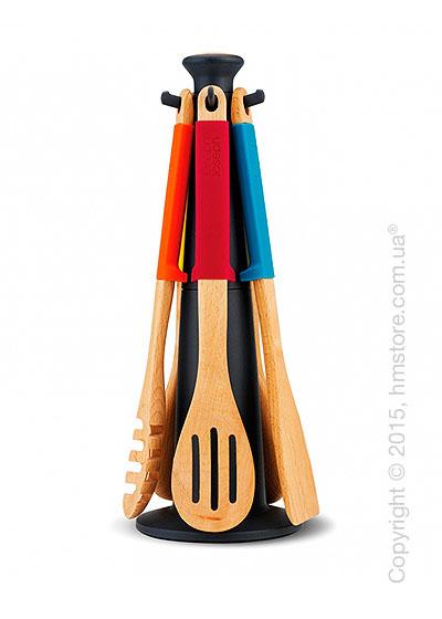 Набор кухонного инвентаря на подставке Joseph Joseph Elevate Wood Carousel, Multi Colour