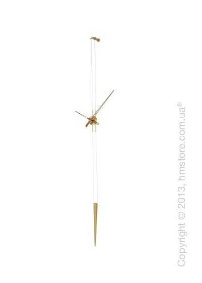 Часы настенные Nomon Pendulo Gold N Wall Clock, Walnut