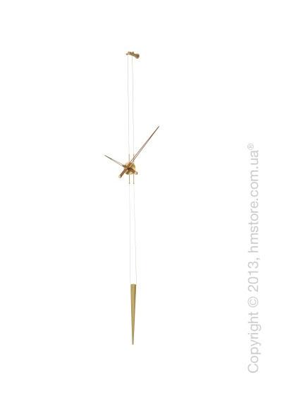 Часы настенные Nomon Pendulo Gold Wall Clock, Walnut
