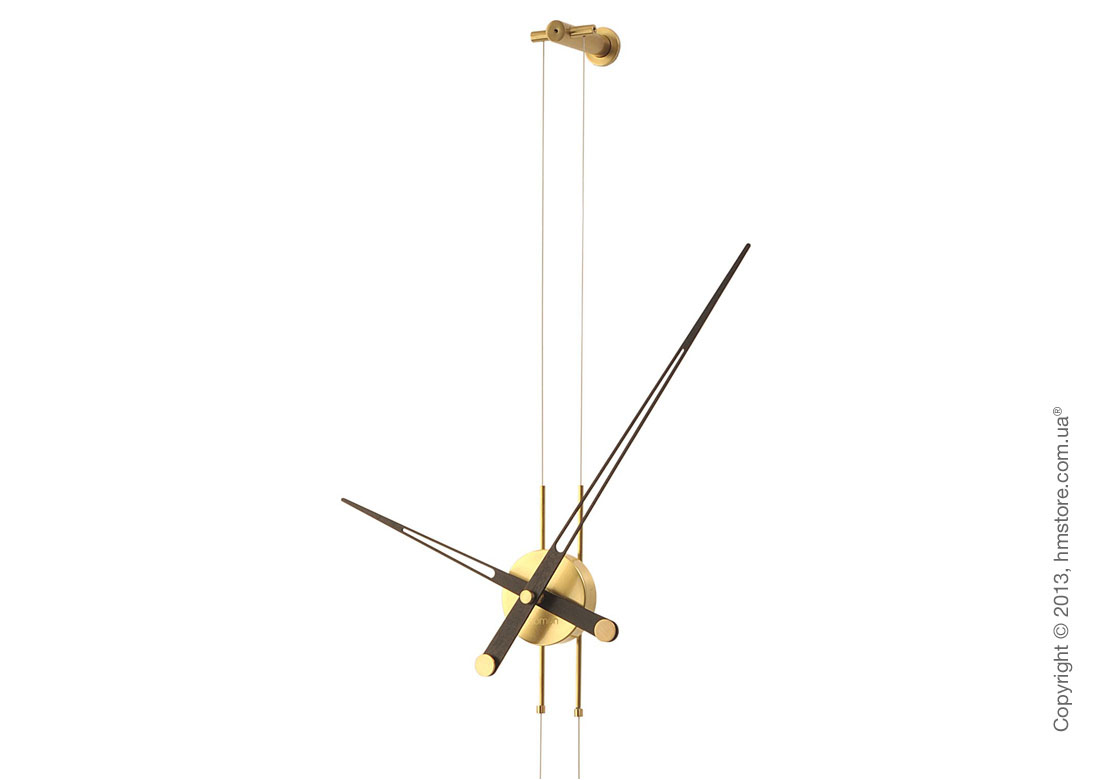 Часы настенные Nomon Pendulo Gold N Wall Clock, Wenge