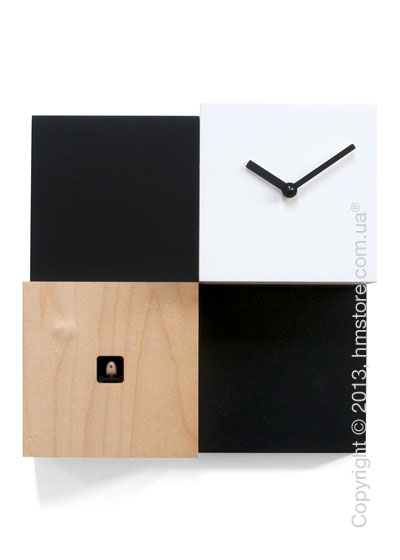 Часы настенные Progetti Pared CentralPark Wall Clock, Black and White