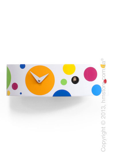Часы настенные Progetti Pared Ellipse Wall Clock, White and Colored dot