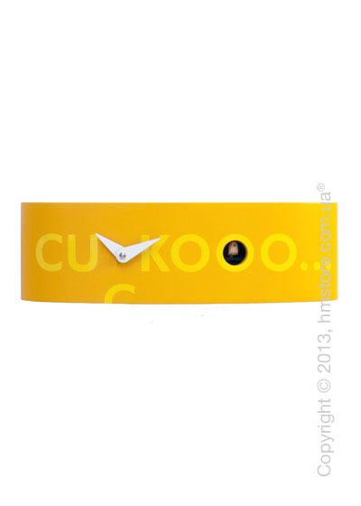 Часы настенные Progetti Pared Ellipse Wall Clock, Orange with Yellow Writing