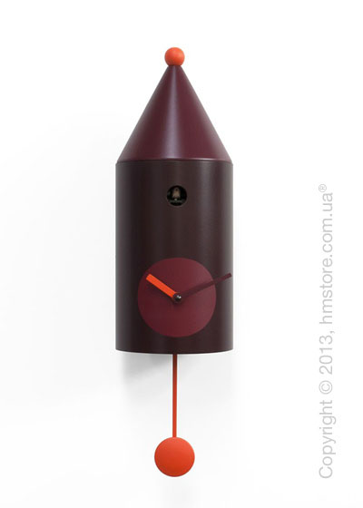 Часы настенные Progetti Pared Ceraunavolta Wall Clock, Burgundy