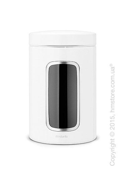 Емкость для хранения сыпучих продуктов Brabantia Window 1,4 л, White