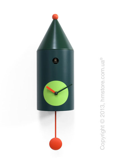 Часы настенные Progetti Pared Ceraunavolta Wall Clock, Green
