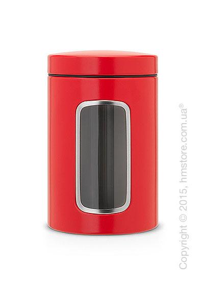 Емкость для хранения сыпучих продуктов Brabantia Window 1,4 л, Passion Red