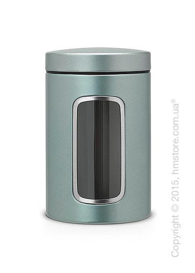 Емкость для хранения сыпучих продуктов Brabantia Window 1,4 л, Metallic Mint