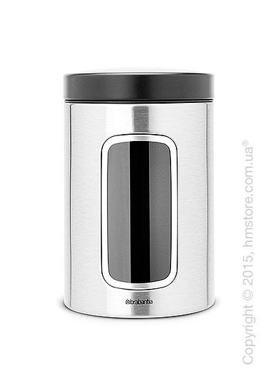 Емкость для хранения сыпучих продуктов Brabantia Window 1,4 л, Matt Steel Fingerprint Proof