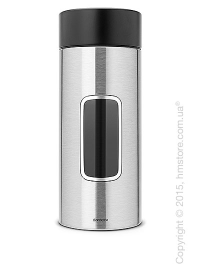 Емкость для хранения сыпучих продуктов Brabantia Window 2,2 л, Matt Steel Fingerprint Proof
