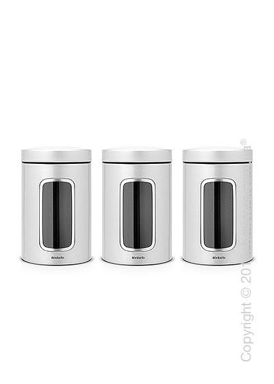 Набор емкостей для хранения сыпучих продуктов Brabantia Window 1,4 л, Metallic Grey
