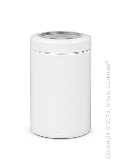 Емкость для хранения сыпучих продуктов Brabantia Window Lid 1,4 л, White