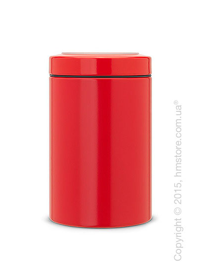 Емкость для хранения сыпучих продуктов Brabantia Window Lid 1,4 л, Passion Red