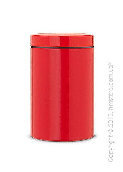 Емкость для хранения сыпучих продуктов Brabantia Window Lid 1,4 л, Passion Red