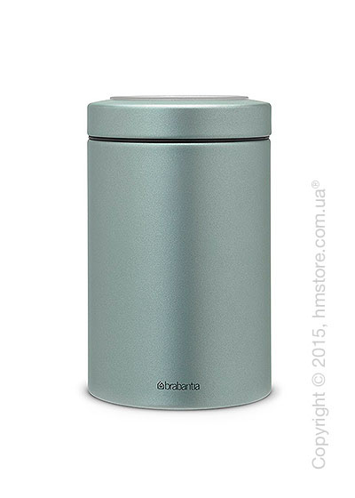 Емкость для хранения сыпучих продуктов Brabantia Window Lid 1,4 л, Metallic Mint