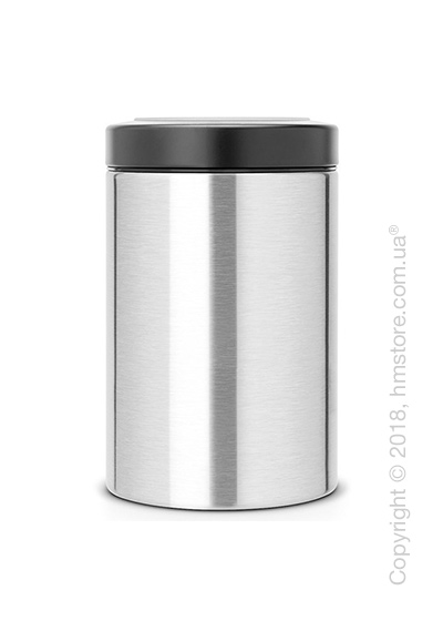 Емкость для хранения сыпучих продуктов Brabantia Window Lid 1,4 л, Matt Steel Fingerprint Proof