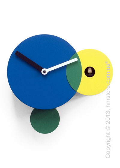Часы настенные Progetti Pared Kandinsky Wall Clock, Blue and Yellow