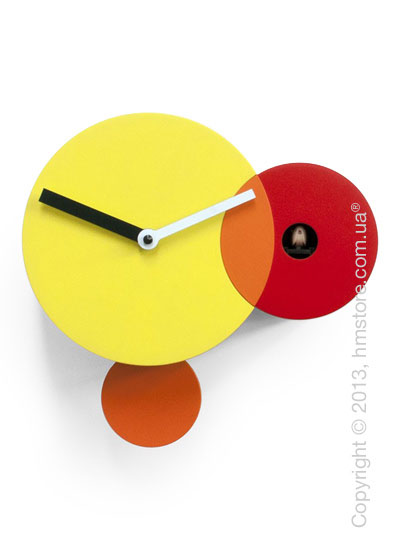 Часы настенные Progetti Pared Kandinsky Wall Clock, Yellow and Red