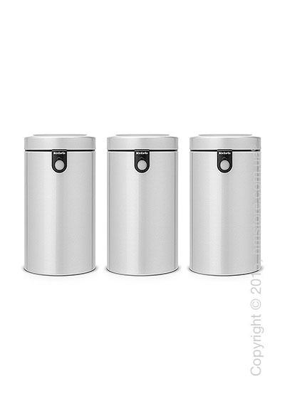 Набор емкостей для хранения сыпучих продуктов Brabantia Window 1,7 л, Metallic Grey
