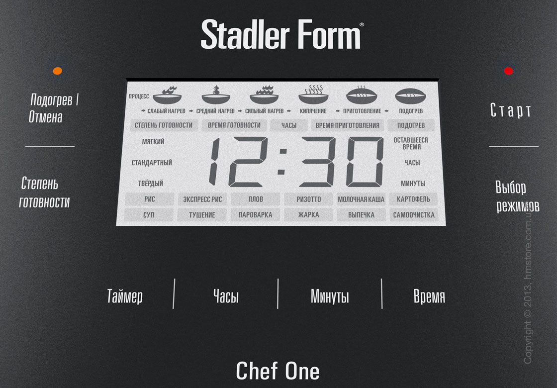 Мультиварка Stadler Form Chef One 4L, Black