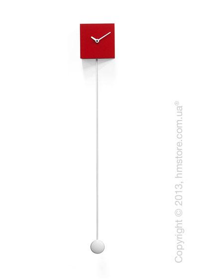 Часы настенные Progetti Pared Long Time Design Wall Clock, Red
