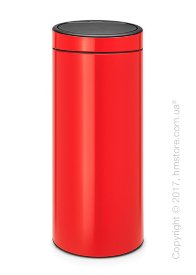 Ведро для мусора Brabantia Touch Bin New 30 л, Passion Red