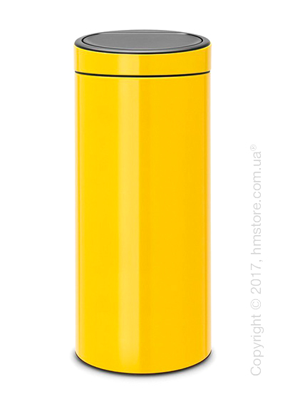 Ведро для мусора Brabantia Touch Bin New 30 л, Daisy Yellow