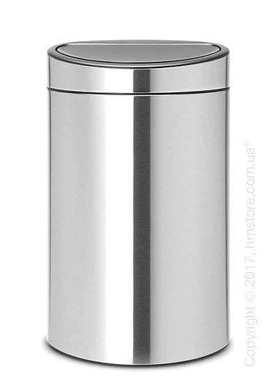 Ведро для мусора Brabantia Touch Bin New 40 л, Matt Steel Fingerprint Proof