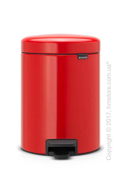 Ведро для мусора Brabantia Pedal Bin NewIcon 5 л, Passion Red