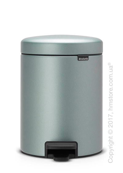 Ведро для мусора Brabantia Pedal Bin NewIcon 5 л, Metallic Mint