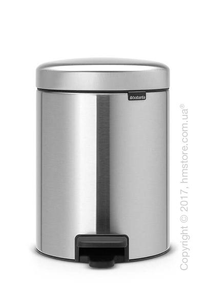 Ведро для мусора Brabantia Pedal Bin NewIcon 5 л, Matt Steel Fingerprint Proof