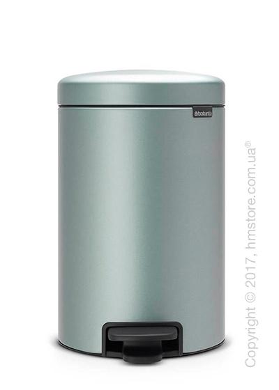 Ведро для мусора Brabantia Pedal Bin NewIcon 12 л, Metallic Mint