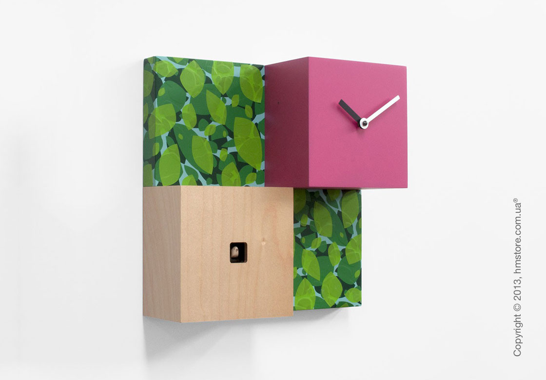 Часы настенные Progetti CentralPark Wall Clock, Green and Purple