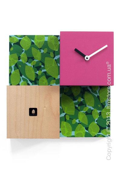 Часы настенные Progetti CentralPark Wall Clock, Green and Purple